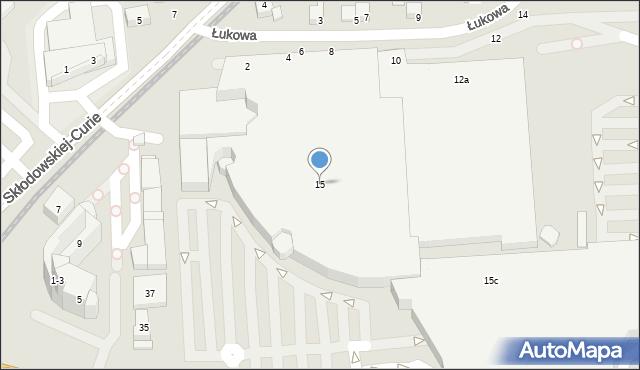 Toruń, Żółkiewskiego, 15, mapa Torunia