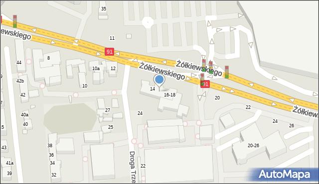 Toruń, Żółkiewskiego, 16, mapa Torunia