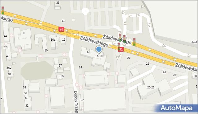 Toruń, Żółkiewskiego, 18, mapa Torunia