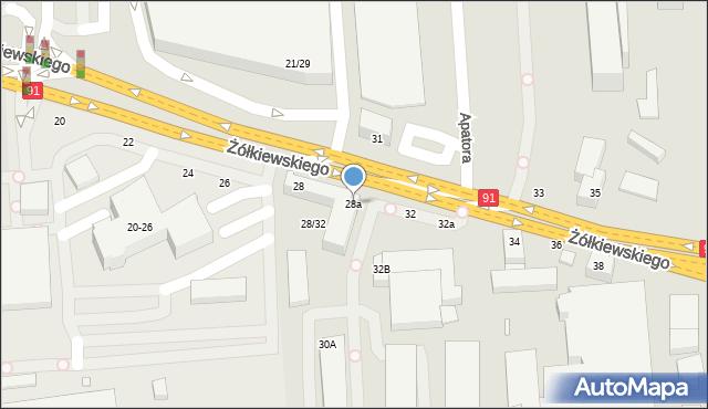 Toruń, Żółkiewskiego, 28a, mapa Torunia
