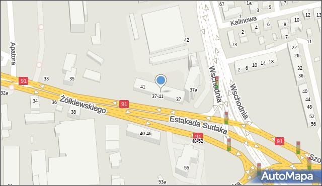 Toruń, Żółkiewskiego, 39, mapa Torunia