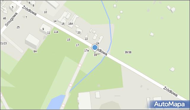 Łódź, Źródłowa, 19, mapa Łodzi