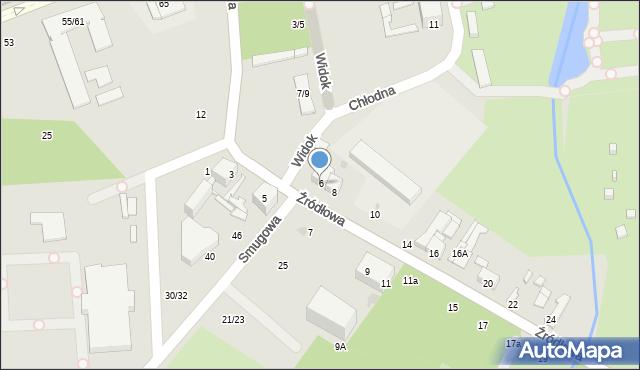 Łódź, Źródłowa, 6, mapa Łodzi