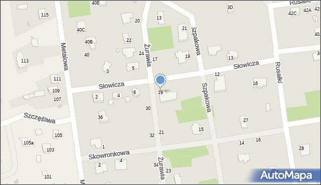Chełm, Żurawia, 19, mapa Chełma