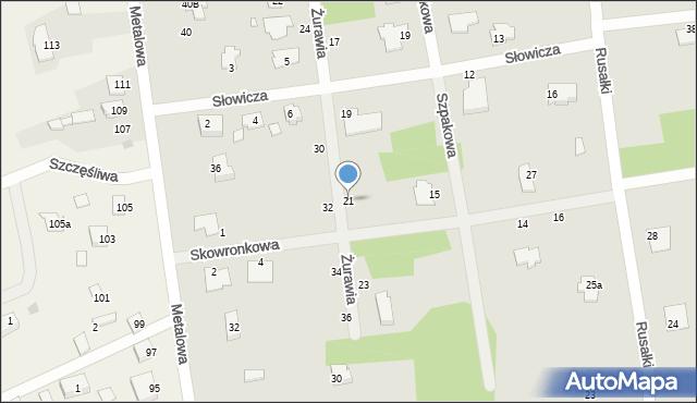 Chełm, Żurawia, 21, mapa Chełma