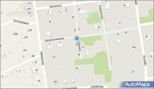 Chełm, Żurawia, 34, mapa Chełma