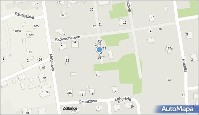 Chełm, Żurawia, 36, mapa Chełma