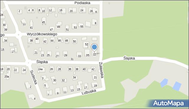 Grudziądz, Żuławska, 12, mapa Grudziądza