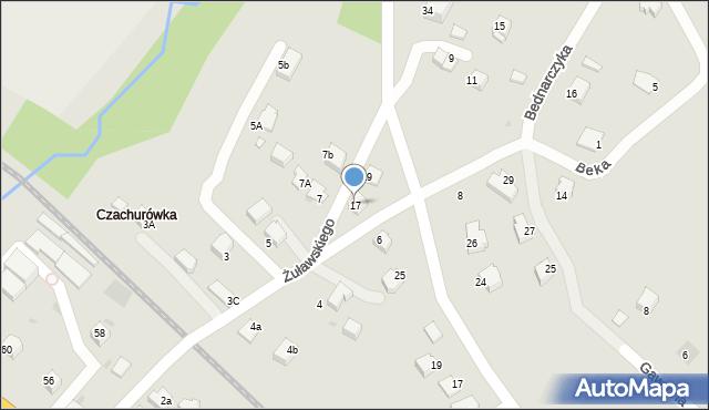 Limanowa, Żuławskiego, 17, mapa Limanowa