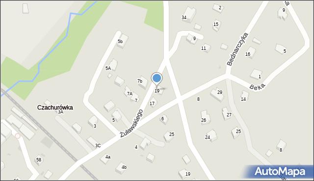 Limanowa, Żuławskiego, 19, mapa Limanowa