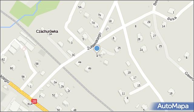 Limanowa, Żuławskiego, 4, mapa Limanowa