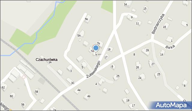 Limanowa, Żuławskiego, 7, mapa Limanowa