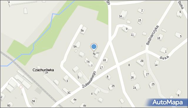 Limanowa, Żuławskiego, 7b, mapa Limanowa