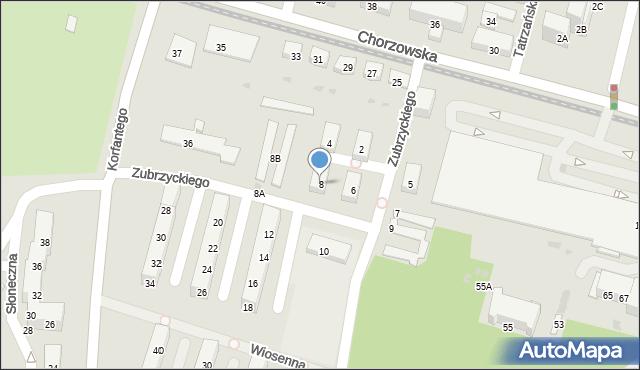 Świętochłowice, Zubrzyckiego Juliana, 8, mapa Świętochłowice