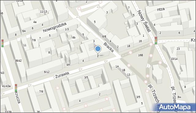 Warszawa, Żurawia, 2, mapa Warszawy