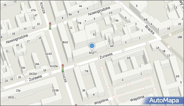 Warszawa, Żurawia, 6/12, mapa Warszawy