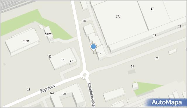 Warszawa, Żupnicza, 7, mapa Warszawy