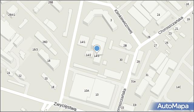 Białystok, Zwycięstwa, 14/3, mapa Białegostoku