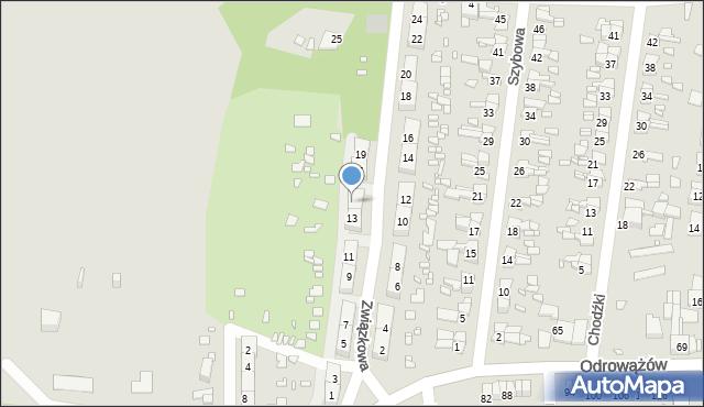 Gliwice, Związkowa, 15, mapa Gliwic