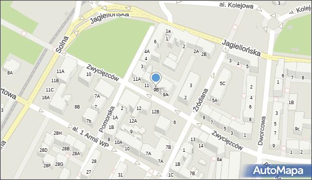 Kołobrzeg, Zwycięzców, 9B, mapa Kołobrzegu