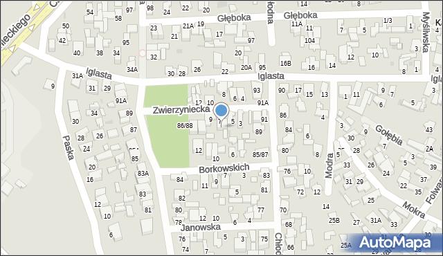 Radom, Zwierzyniecka, 7A, mapa Radomia