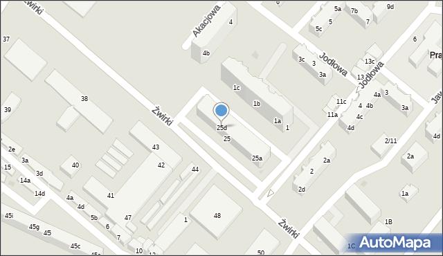 Tczew, Żwirki Franciszka, 25d, mapa Tczew