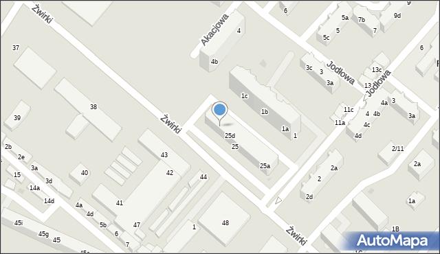 Tczew, Żwirki Franciszka, 25e, mapa Tczew