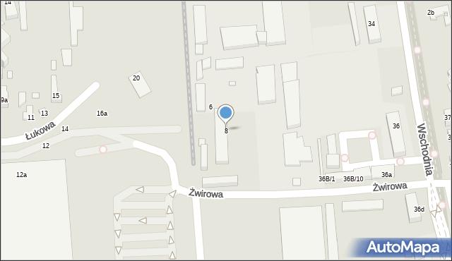 Toruń, Żwirowa, 8, mapa Torunia