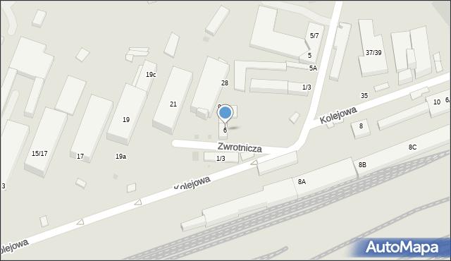 Warszawa, Zwrotnicza, 6, mapa Warszawy