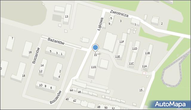 Zabrze, Zwrotnicza, 11, mapa Zabrza