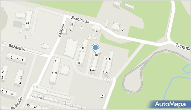 Zabrze, Zwrotnicza, 11D, mapa Zabrza