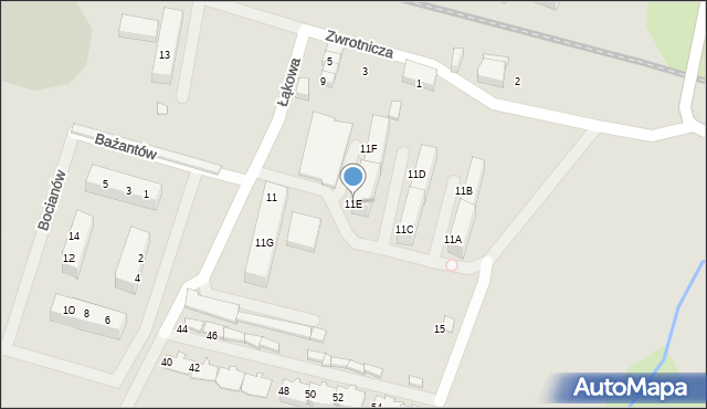 Zabrze, Zwrotnicza, 11E, mapa Zabrza