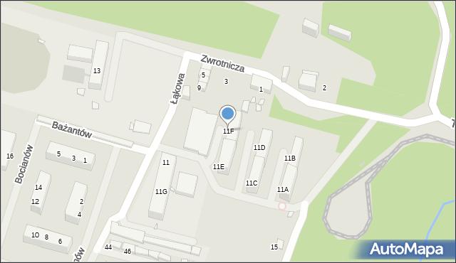 Zabrze, Zwrotnicza, 11F, mapa Zabrza