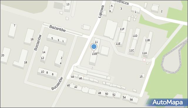 Zabrze, Zwrotnicza, 11G, mapa Zabrza