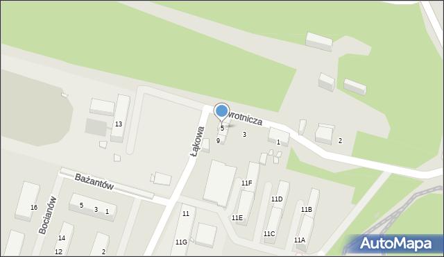 Zabrze, Zwrotnicza, 5, mapa Zabrza