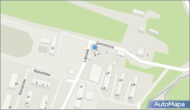 Zabrze, Zwrotnicza, 9, mapa Zabrza
