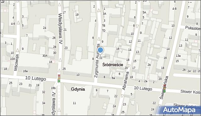 Gdynia, Zygmunta Augusta, 11a, mapa Gdyni