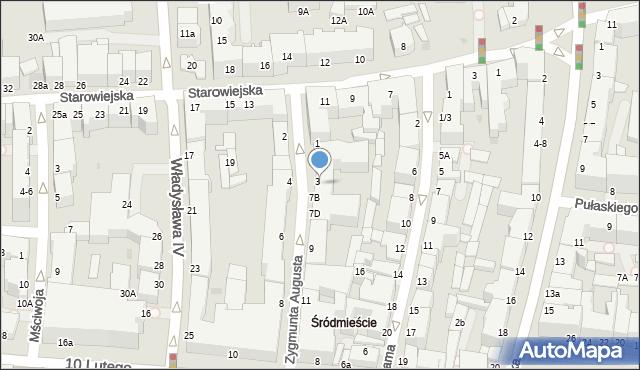 Gdynia, Zygmunta Augusta, 5a, mapa Gdyni