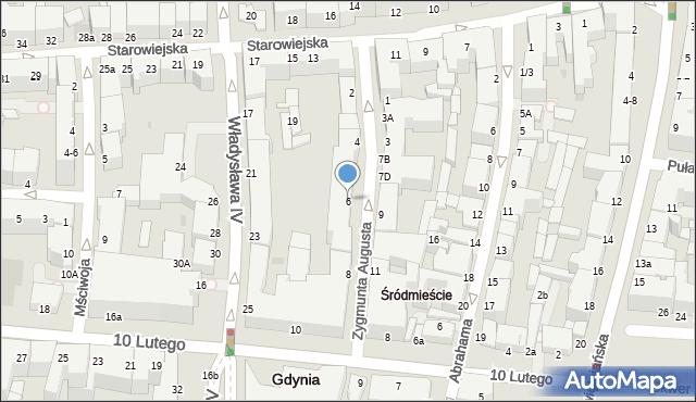 Gdynia, Zygmunta Augusta, 6, mapa Gdyni
