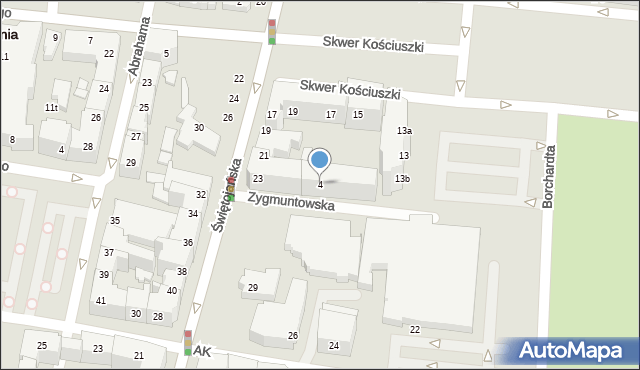 Gdynia, Zygmuntowska, 4, mapa Gdyni