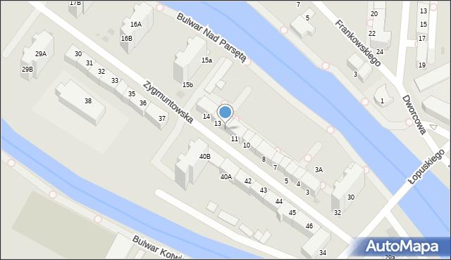 Kołobrzeg, Zygmuntowska, 12, mapa Kołobrzegu