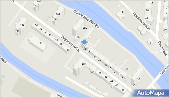 Kołobrzeg, Zygmuntowska, 14, mapa Kołobrzegu