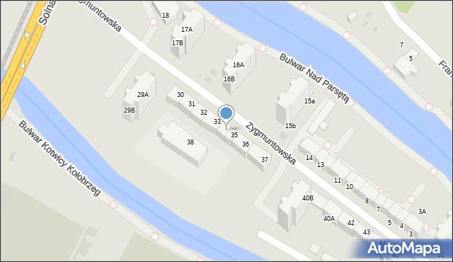 Kołobrzeg, Zygmuntowska, 34, mapa Kołobrzegu