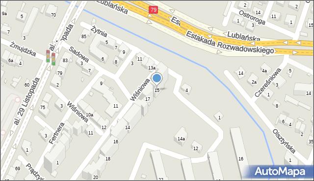 Kraków, Żytnia, 15, mapa Krakowa