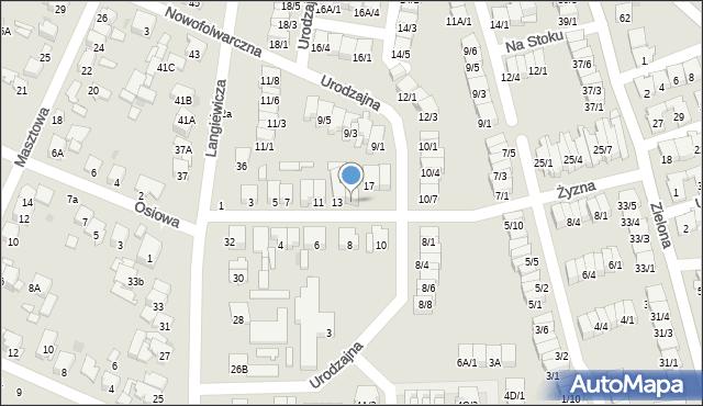 Radom, Żyzna, 15, mapa Radomia