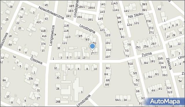 Radom, Żyzna, 17, mapa Radomia