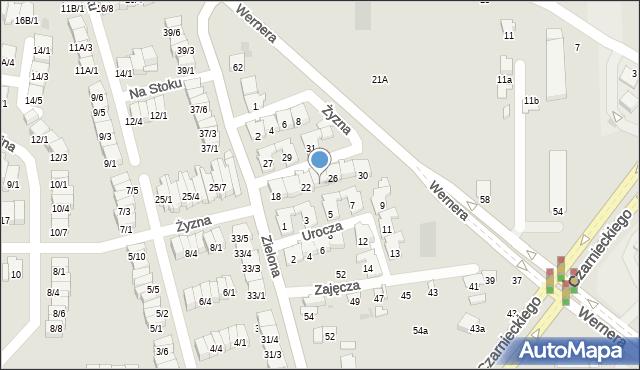 Radom, Żyzna, 24, mapa Radomia