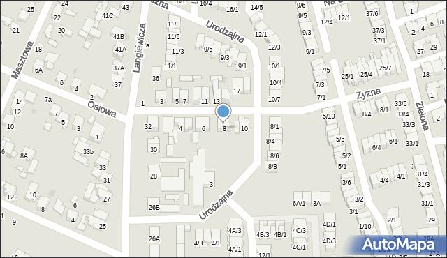 Radom, Żyzna, 8, mapa Radomia
