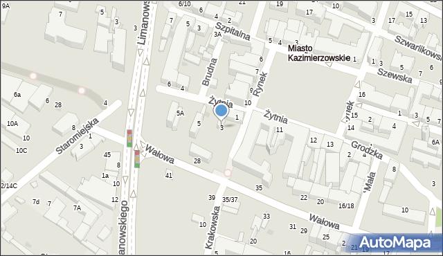 Radom, Żytnia, 3, mapa Radomia