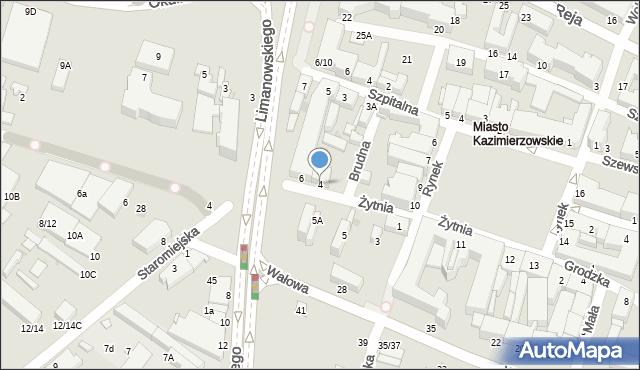 Radom, Żytnia, 4, mapa Radomia